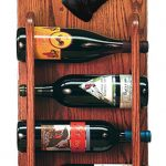 Schnauzer Dog Wood Wine Rack Bottle Holder Figure Blk 3