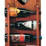 Schnauzer Dog Wood Wine Rack Bottle Holder Figure Blk/Silver 3