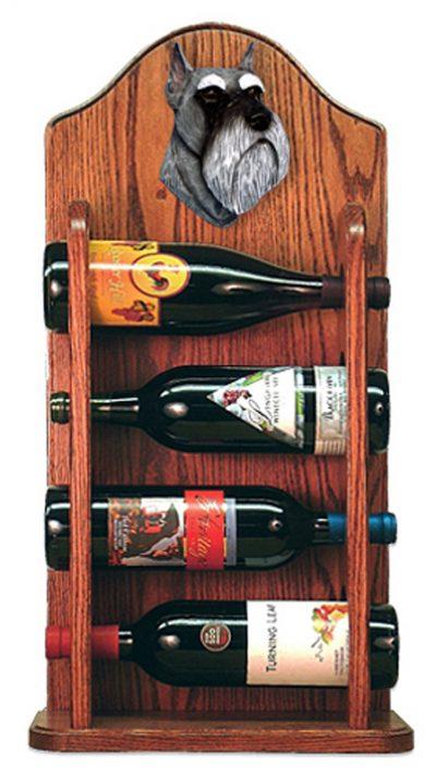 Schnauzer Dog Wood Wine Rack Bottle Holder Figure Salt/Pep 3
