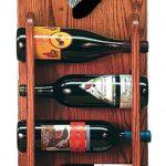 Schnauzer Dog Wood Wine Rack Bottle Holder Figure Blk/Silver 3