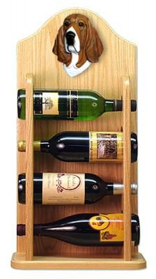 Basset Hound Dog Wood Wine Rack Bottle Holder Figure Tri 4