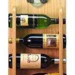 Bearded Collie Dog Wood Wine Rack Bottle Holder Figure Blu/Wht 4