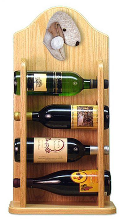 Bedlington Terrier Dog Wood Wine Rack Bottle Holder Figure Liver 4