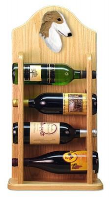 Borzoi Dog Wood Wine Rack Bottle Holder Figure Bi 4