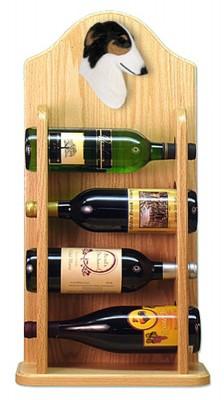 Borzoi Dog Wood Wine Rack Bottle Holder Figure Tri 4