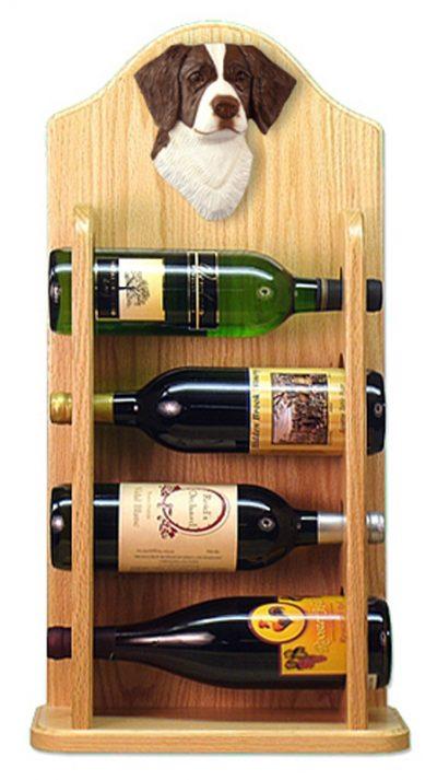Brittany Dog Wood Wine Rack Bottle Holder Figure Liver 4