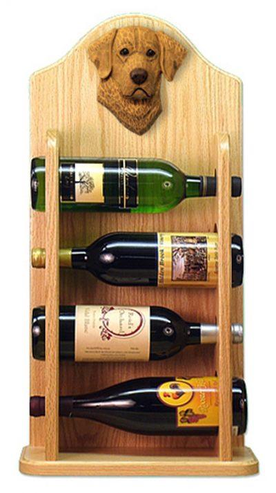 Chesapeake Bay Retriever Dog Wood Wine Rack Bottle Holder Figure 4