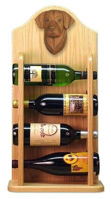 Chocolate Lab Dog Wood Wine Rack Bottle Holder Figure 4