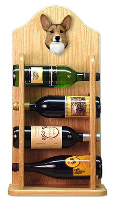 Welsh Corgi Pembroke Dog Wood Wine Rack Bottle Holder Figure Sable 4