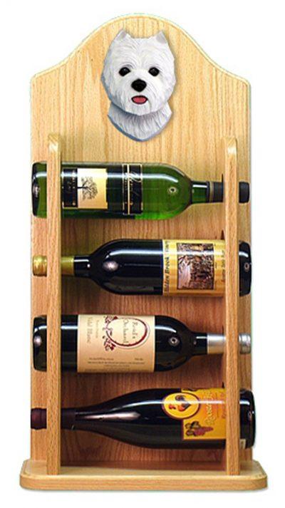 West Highland Terrier Dog Wood Wine Rack Bottle Holder Figure 4
