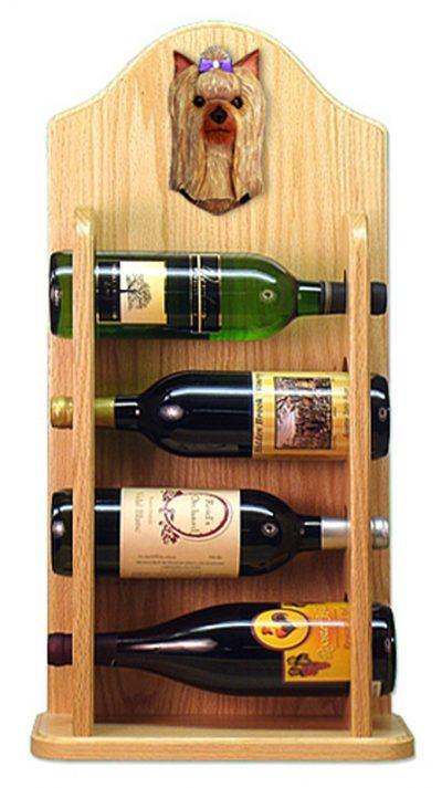 Yorkshire Terrier Dog Wood Wine Rack Bottle Holder Figure 4
