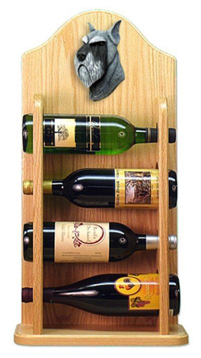 Schnauzer Dog Wood Wine Rack Bottle Holder Figure Salt/Pepper 4