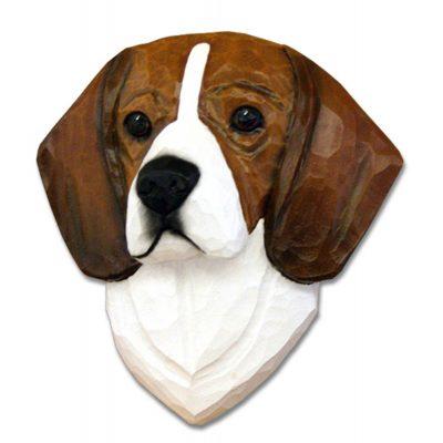 Beagle Head Plaque Figurine Tri 1
