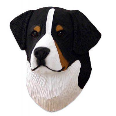 Bernese Mt. Dog Head Plaque Figurine