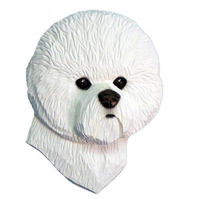 Bichon Frise Head Plaque Figurine  1