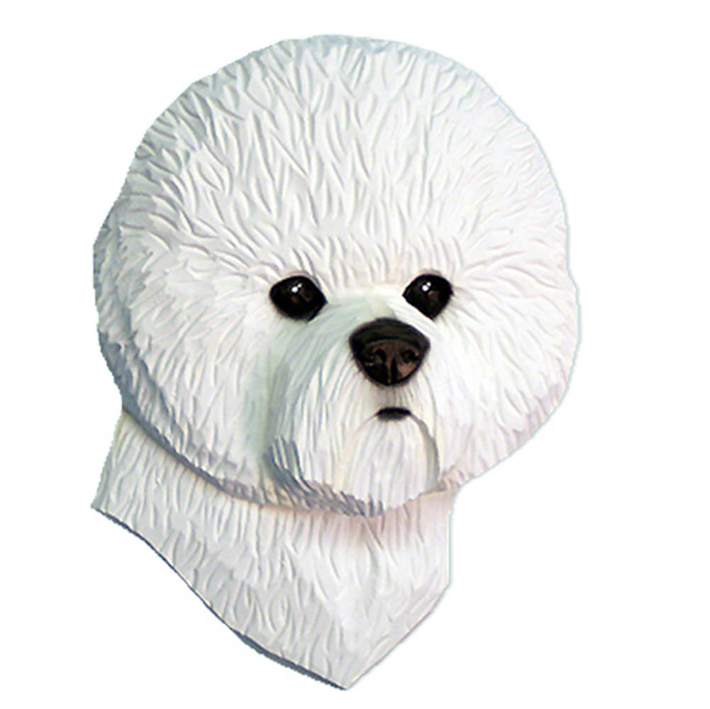 Bichon Frise Head Plaque Figurine
