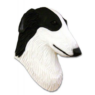 Borzoi Head Plaque Figurine Bi