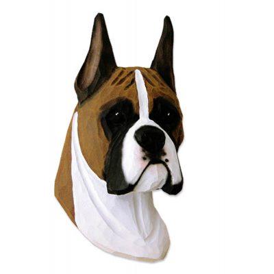 Boxer Head Plaque Figurine Fawn 1