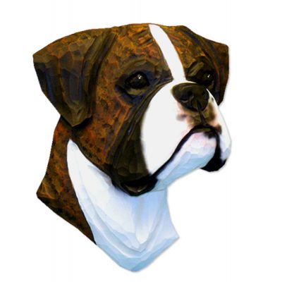 Boxer Head Plaque Figurine Brindle Uncropped 1