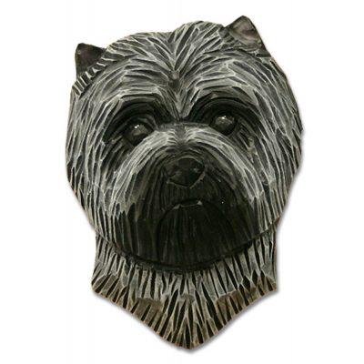Carin Terrier Head Plaque Figurine Light Grey 1