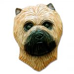 Carin Terrier Head Plaque Figurine Wheaten 1