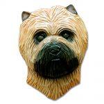 Carin Terrier Head Plaque Figurine Wheaten