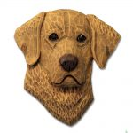Chesapeake Bay Retriever Head Plaque Figurine