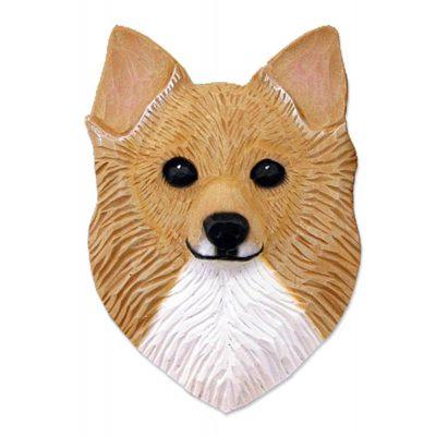 Chihuahua Head Plaque Figurine Fawn Longhair 1