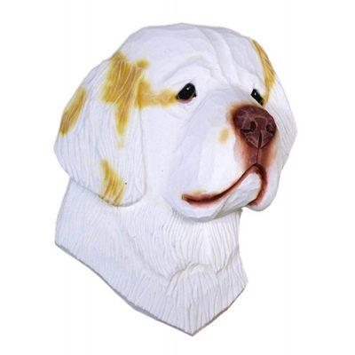 Clumber Spaniel Head Plaque Figurine Lemon 1