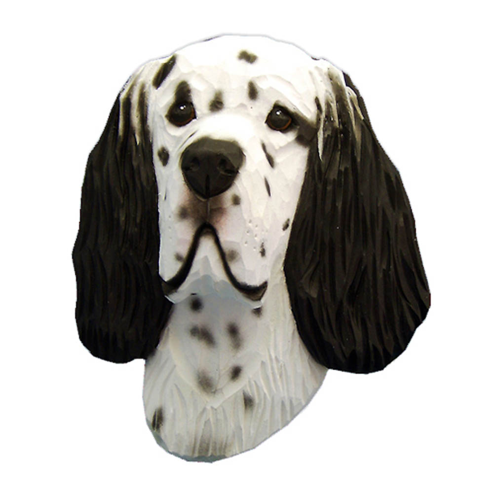 English Setter Head Plaque Figurine Blue Belton