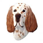 English Setter Head Plaque Figurine Liver Belton 1