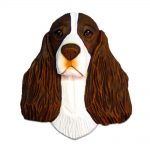 English Springer Spaniel Head Plaque Figurine Liver