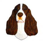 English Springer Spaniel Head Plaque Figurine Liver