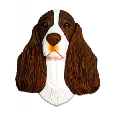 English Springer Spaniel Head Plaque Figurine Liver 1