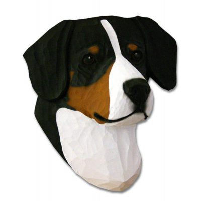 Entlebucher Mountain Dog Head Plaque Figurine 1