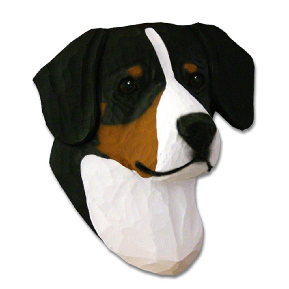 Entlebucher Mountain Dog Head Plaque Figurine