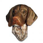 German Shorthair Pointer Head Plaque Figurine