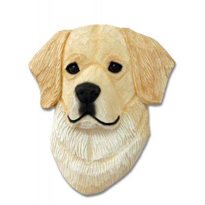Golden Retriever Head Plaque Figurine Cream 1