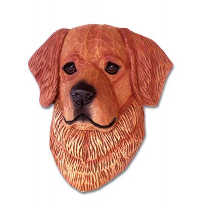Golden Retriever Head Plaque Figurine Dark 1