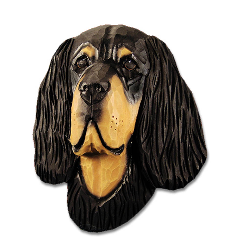 Gordon Setter Head Plaque Figurine