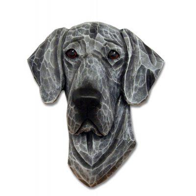 Great Dane Head Plaque Figurine Blue Uncropped 1