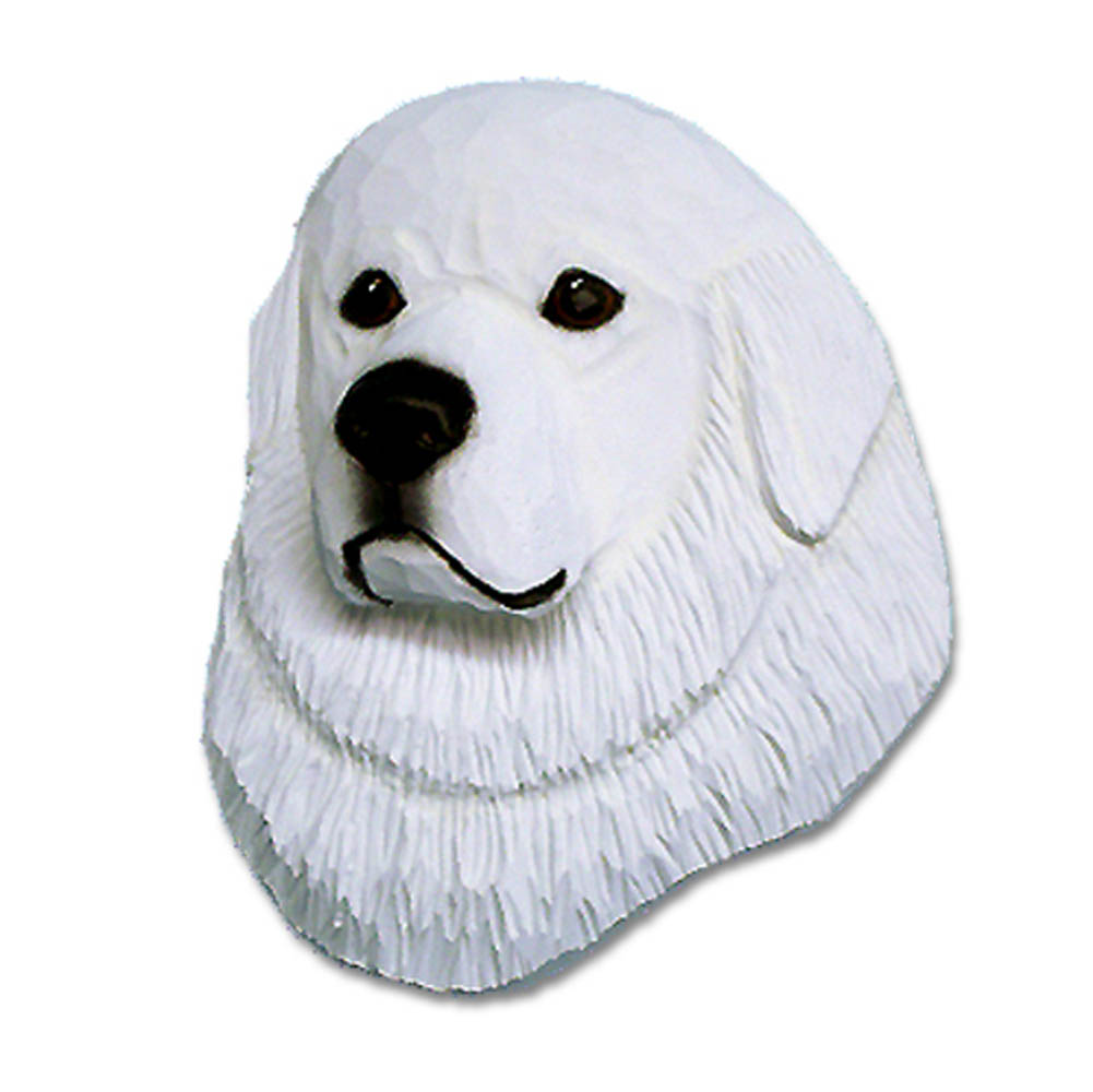 Great Pyrenees Head Plaque Figurine