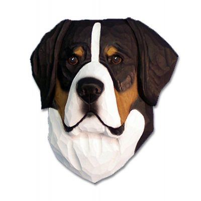 Greater Swiss Mountain Dog Head Plaque Figurine 1