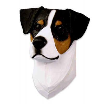 Jack Russell Terrier Head Plaque Figurine Tri
