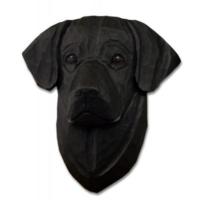 Black Labrador Head Plaque Figurine 1