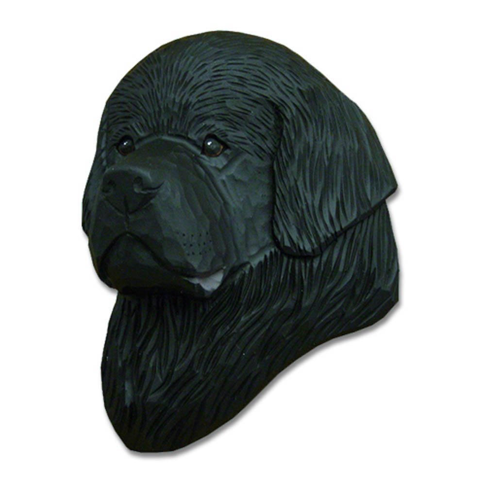 Newfoundland Head Plaque Figurine Black