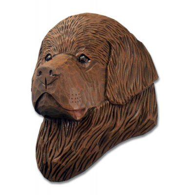 Newfoundland Head Plaque Figurine Brown