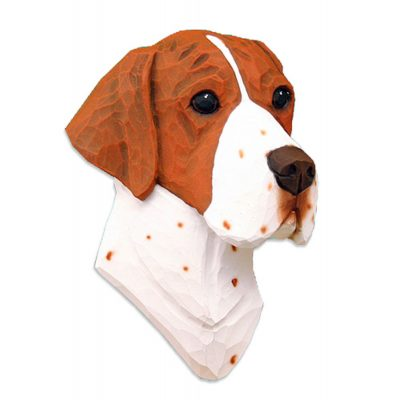 English Pointer Head Plaque Figurine Orange 1