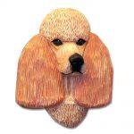 Poodle Head Plaque Figurine Apricot 1