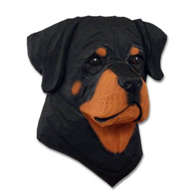 Rottweiler Head Plaque Figurine 1